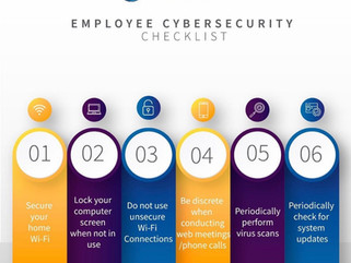 Employee Cybersecurity Checklist