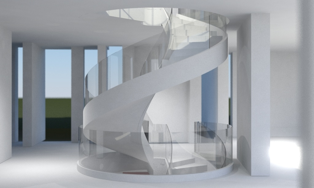 Stair_main level stair rendering