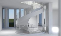 Stair_main level stair rendering