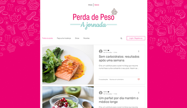 Estilo de Vida website templates – Blog Vida Saudável