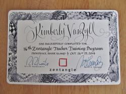 Certified Zentangle Teacher Certific