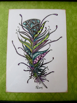 Tangled Feather with alcohol markers