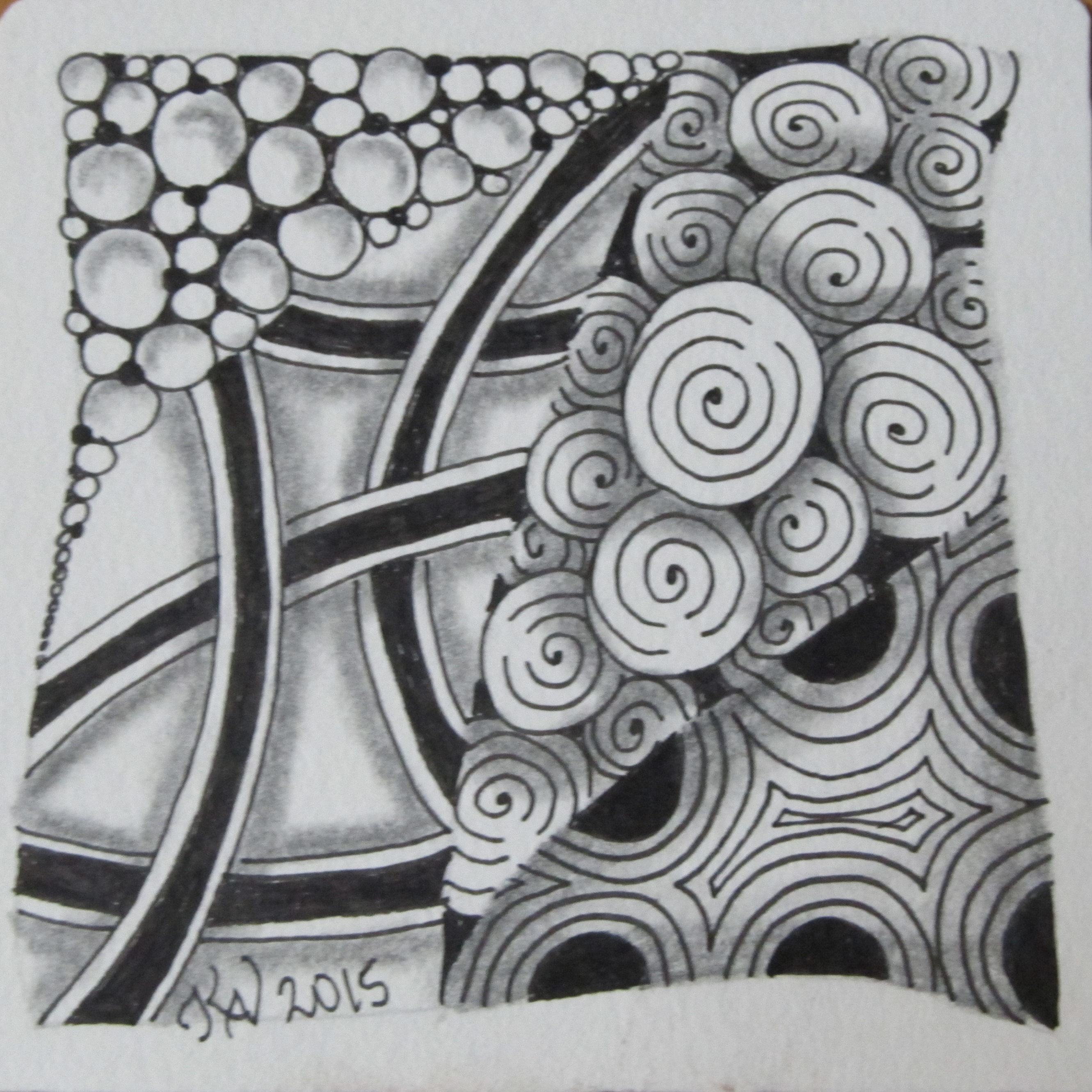A Beginning Zentangle Tile