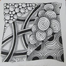 A Beginning Zentangle Tile