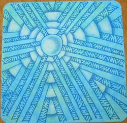 """Arukas"" on watercolor tile"