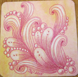 Watercolor tile with color Micron an