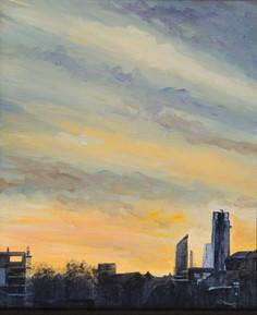 London sunrise skyline