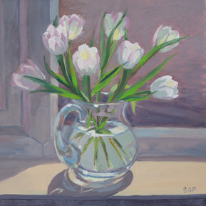 Tulips on the window sill