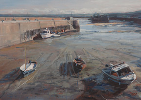 Padstow harbour, tide out