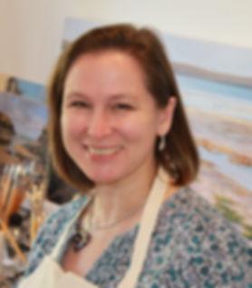 Sarah Poppleton in her artist's studio