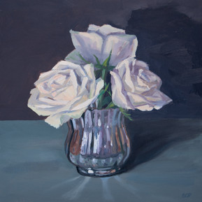 Mercury glass and roses