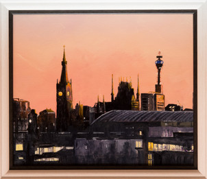 London sunset skyline