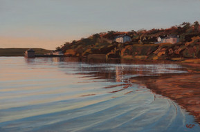 Evening light, Porthilly bay