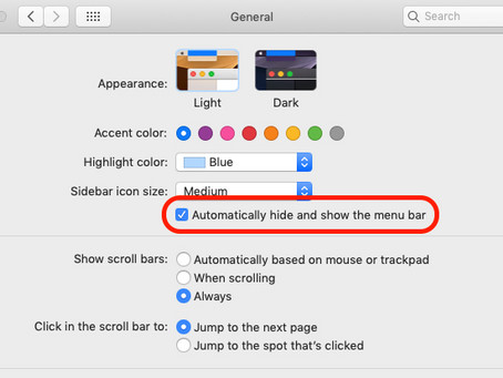 Pro Tip: Hide and show the menu bar on Mac