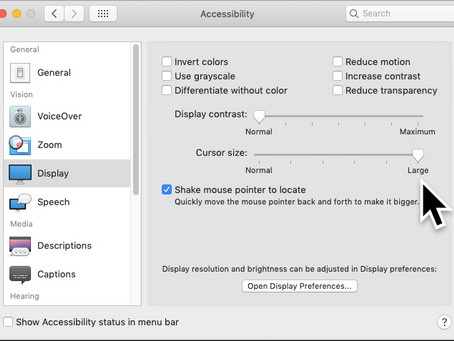 Pro Tip: Shake your mouse to magnify it on Mac