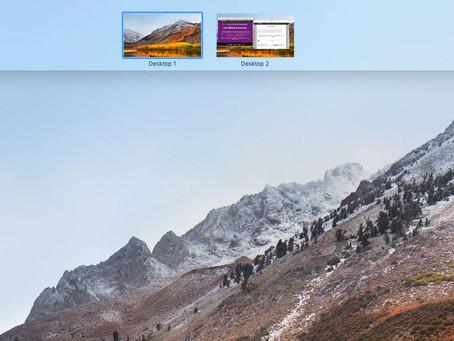 Pro Tip: Create multiple desktops on your Mac