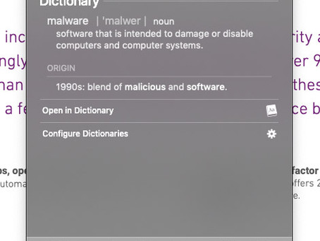 Pro Tip: Quickly look up a word in the dictionary or thesaurus on Mac