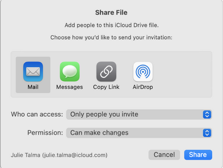 Pro Tip: Use iCloud File Sharing to share folders and documents with other iCloud users on Mac