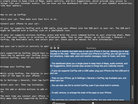 Pro Tip: Shorten long documents with Summarize on Mac