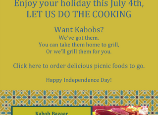 Let us do the cooking for the July 4th holiday!
