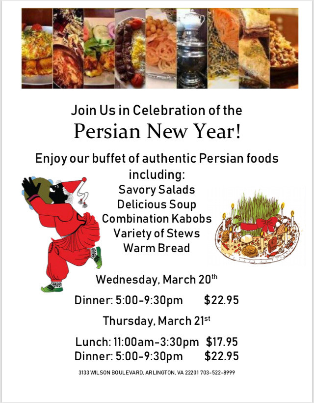 Persian New Year Buffet :: Norooz 1398 at Kabob Bazaar