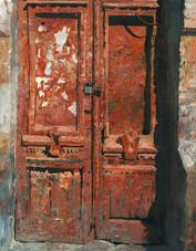 Дверь цвета сурик