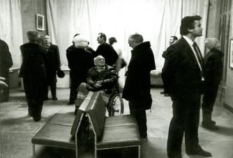 Открытие областной выставки в выставочном зале в дни празднования 50-летия Рязанской организации СХР. 1990 год