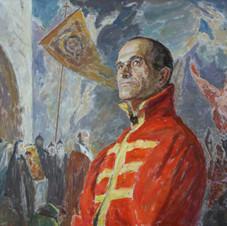 Портрет писателя Владимира Семина в стрелецком кафтане