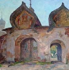Святые ворота Знаменского собора. Великий Новгород