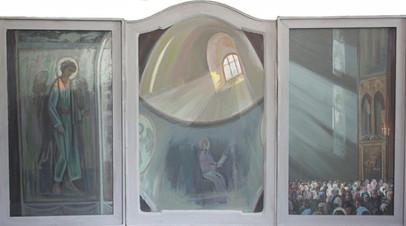 Триптих. Служба в храме