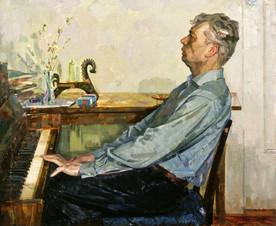 Портрет композитора Евгения Попова - руководителя Рязанского хора