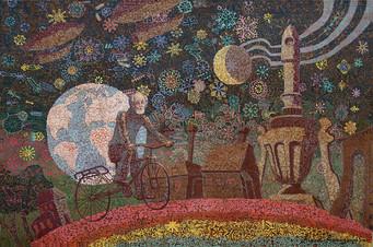 """Вдоль по радуге (левая часть диптиха) """"Миры Циолковского"""""""