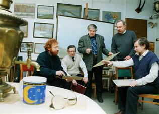 В мастерской у Решедько В.М., 2003 год