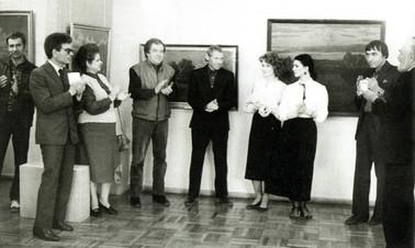 Открытие выставки «В. Корнюшин, В. Шестаков, А. Усаченко». 1987 год