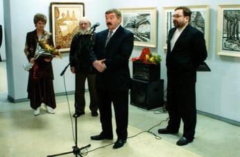 Губернатор Рязанской области Г.И. Шпак на открытии персональной выставки Ю.П.Кузнецова 21.12.2006 г.