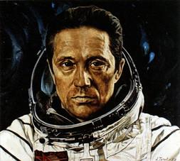 Портрет космонавта В.В. Аксёнова