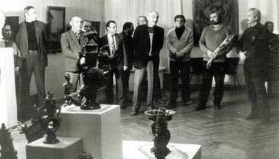 Открытие выстаки рязанских художников в Москве. 1991 год