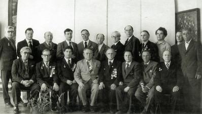 М.Ф. Гавва крайний слева