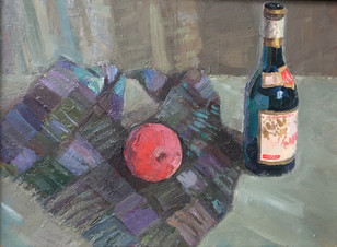 Натюрморт с темной бутылкой