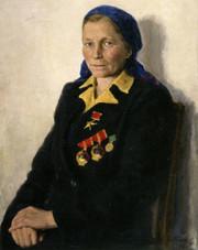 Портрет Героя Социалистического Труда Т.А. Цибизовой
