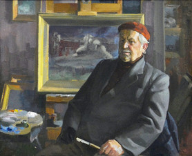 Портрет ветерана Великой Отечественной войны Козлова Алексея Афанасьевича