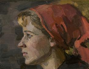 Валентина в красной косынке