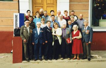 Поздравление ветеранов Великой Отечественной войны. 9 мая 2002 года