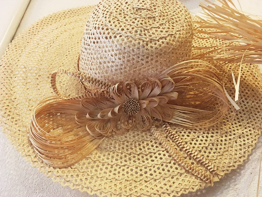 Handwoven Straw Hat with Bow