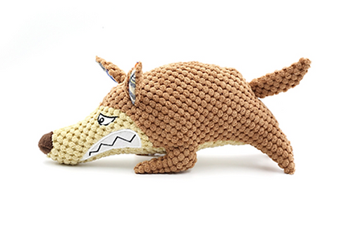 Durable Angry Coyote Organic Dog Toy