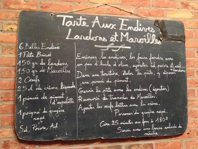 Tartare aux endives, lardons et Maroilles