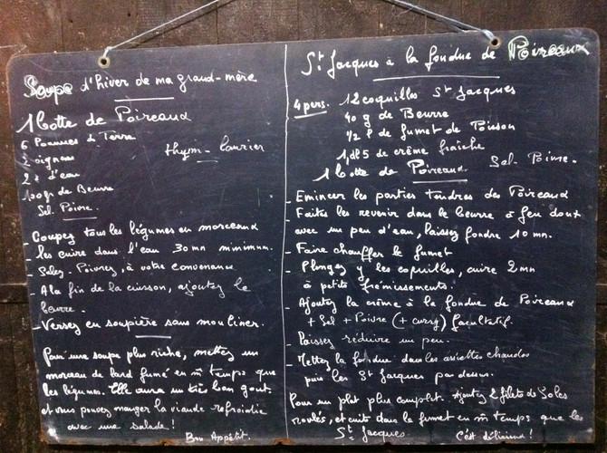 Soupe d'hiver + St Jacques à la fondue de poireaux