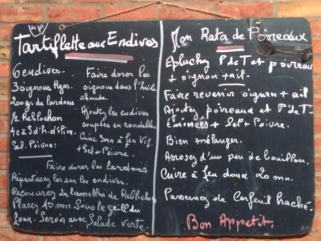 Tartiflette aux endives + Rata de poireaux