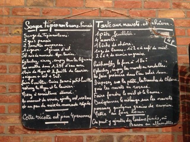 Soupe de topinambours-panais + tarte aux navets et chèvre
