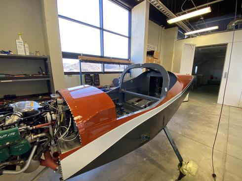 Freshly painted fuselage & Powerplant view.